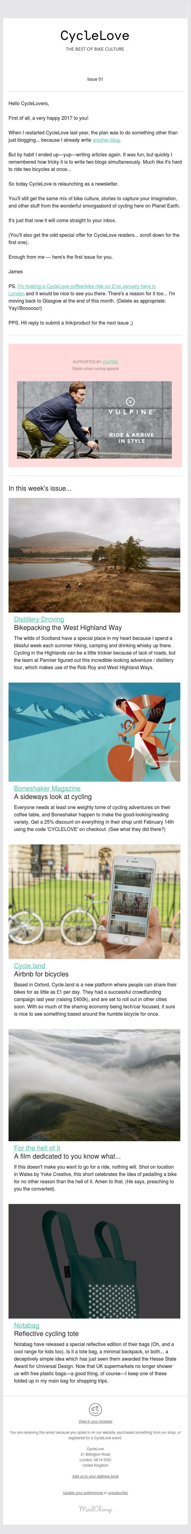 Issue 01 — Bikepacking and backpacks
