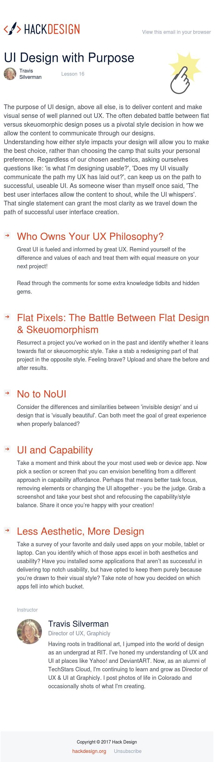 Lesson 16 - UI Design with Purpose