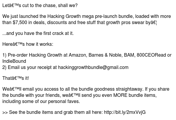 the Hacking Growth bundle is here...