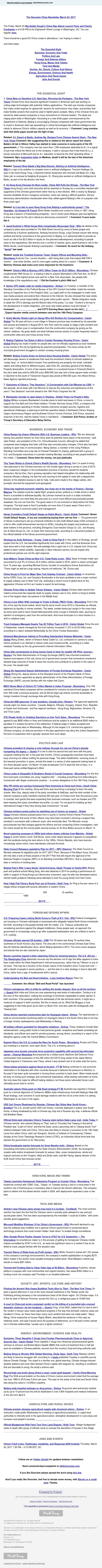 The Sinocism China Newsletter 03.23.17