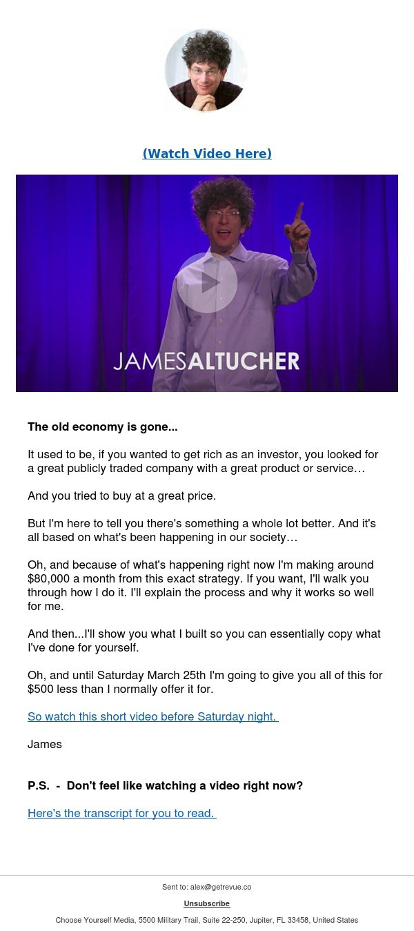 (VIDEO) Watch This 10 Minute Talk I Gave On Making $80k A Month…