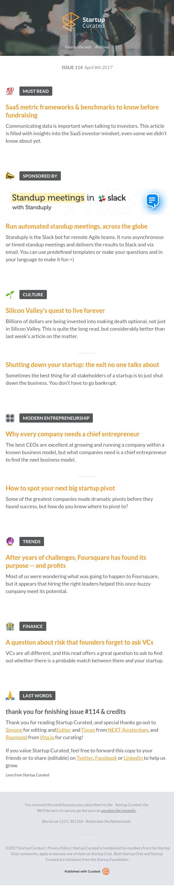 Startup Curated - Issue 114