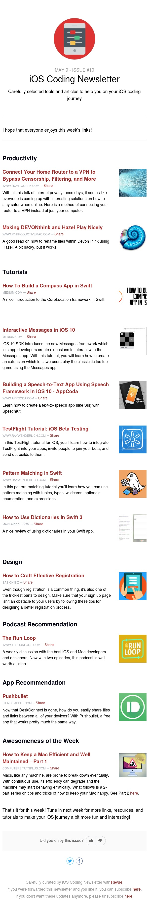 iOS Coding Newsletter - Issue #10