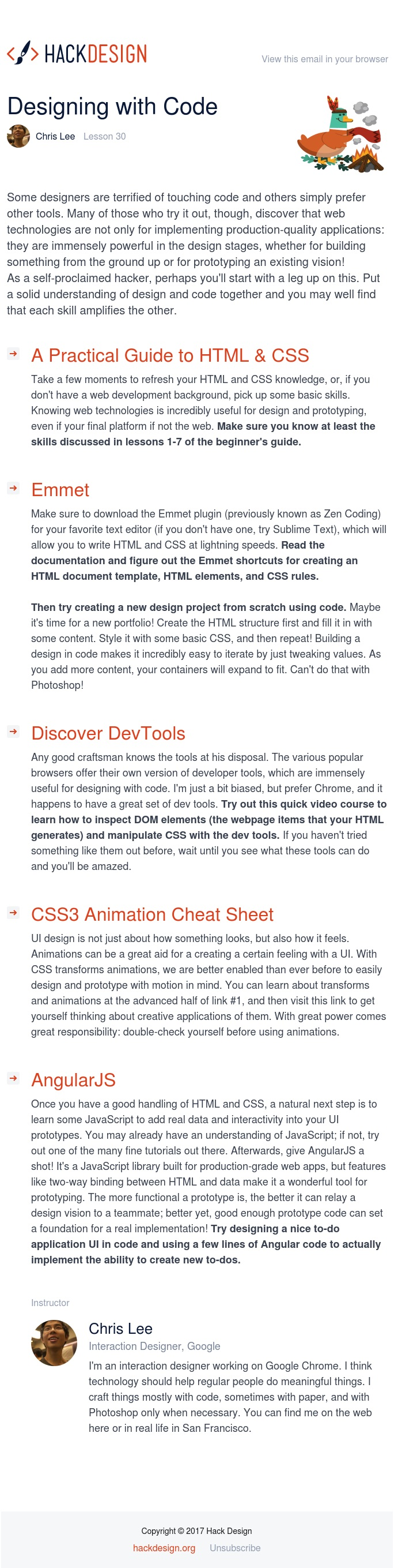 Lesson 30 - Designing with Code