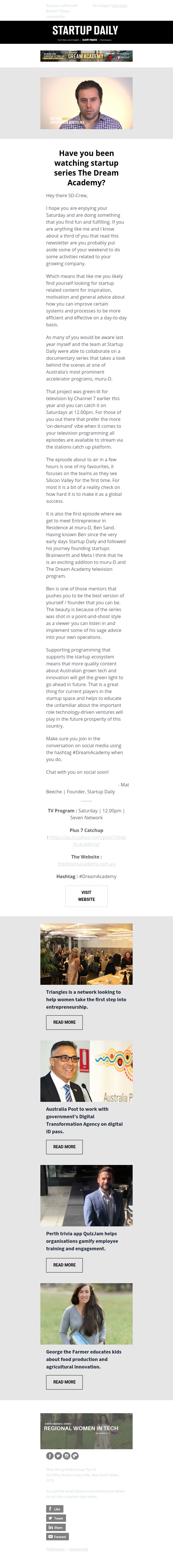 Have you been watching startup focused tv series The Dream Academy?