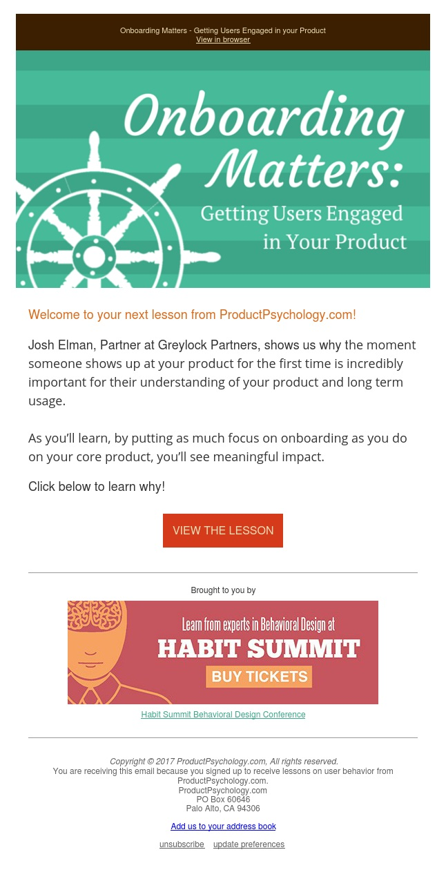 [Product Psychology] Onboarding Matters - Getting Users Engaged in your Product