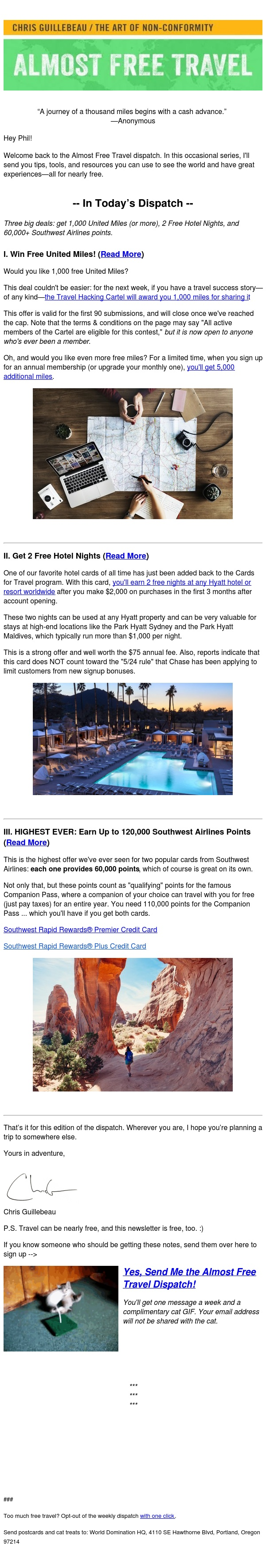 [AFT] Three Big Offers! Get Free Hotel Nights, Points, and Miles