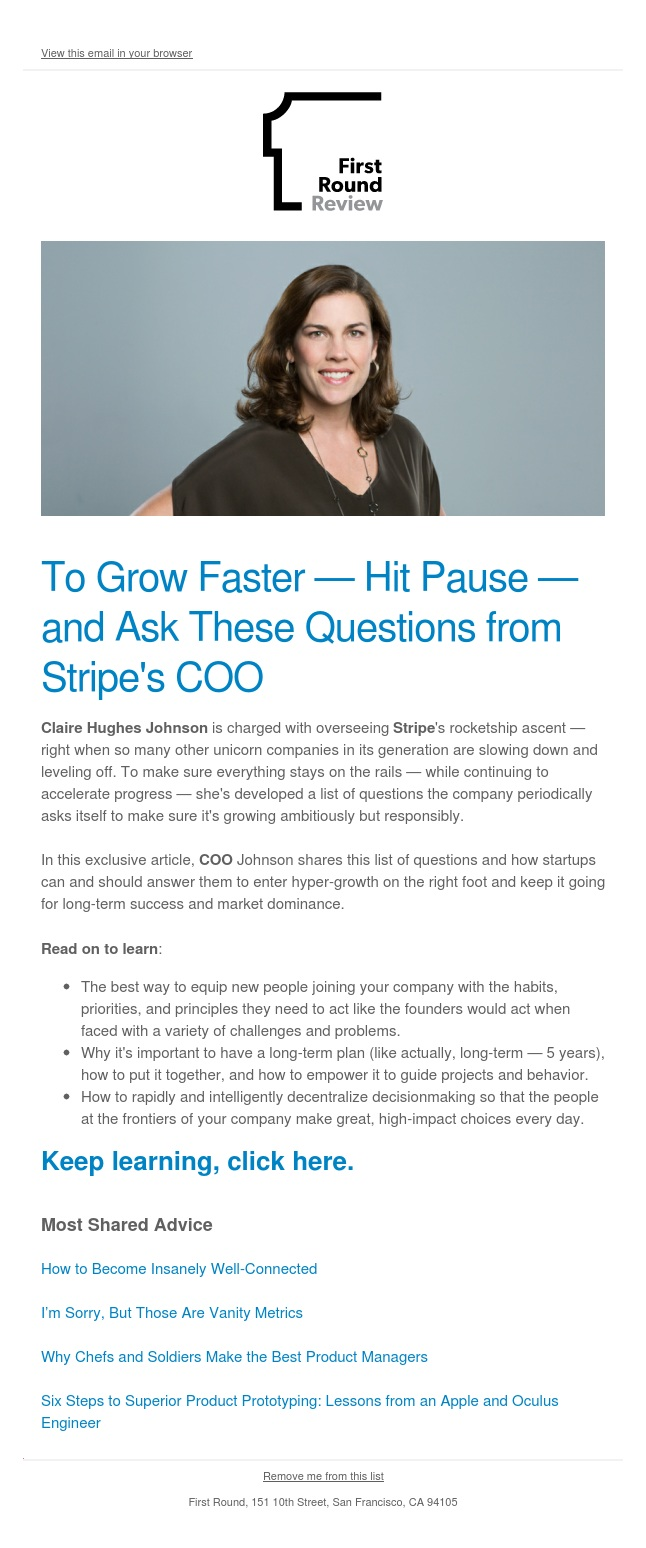 Questions startups should ask to prep for growth (from Stripe)