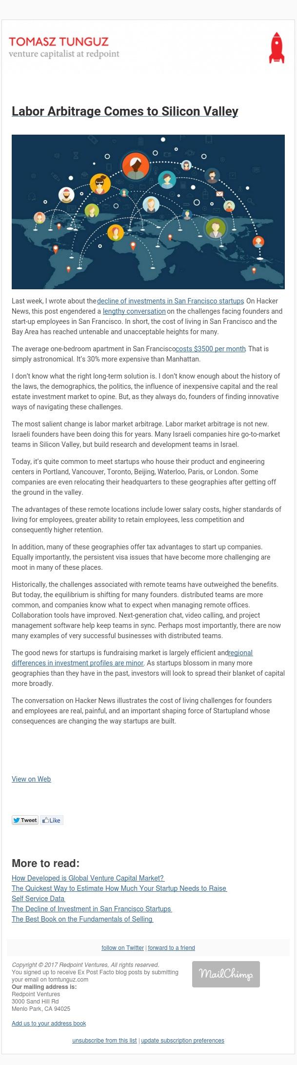 Labor Arbitrage Comes to Silicon Valley
