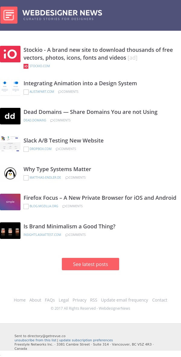 ✏ Dead Domains, Is Brand Minimalism a Good Thing? Firefox Focus, and more…
