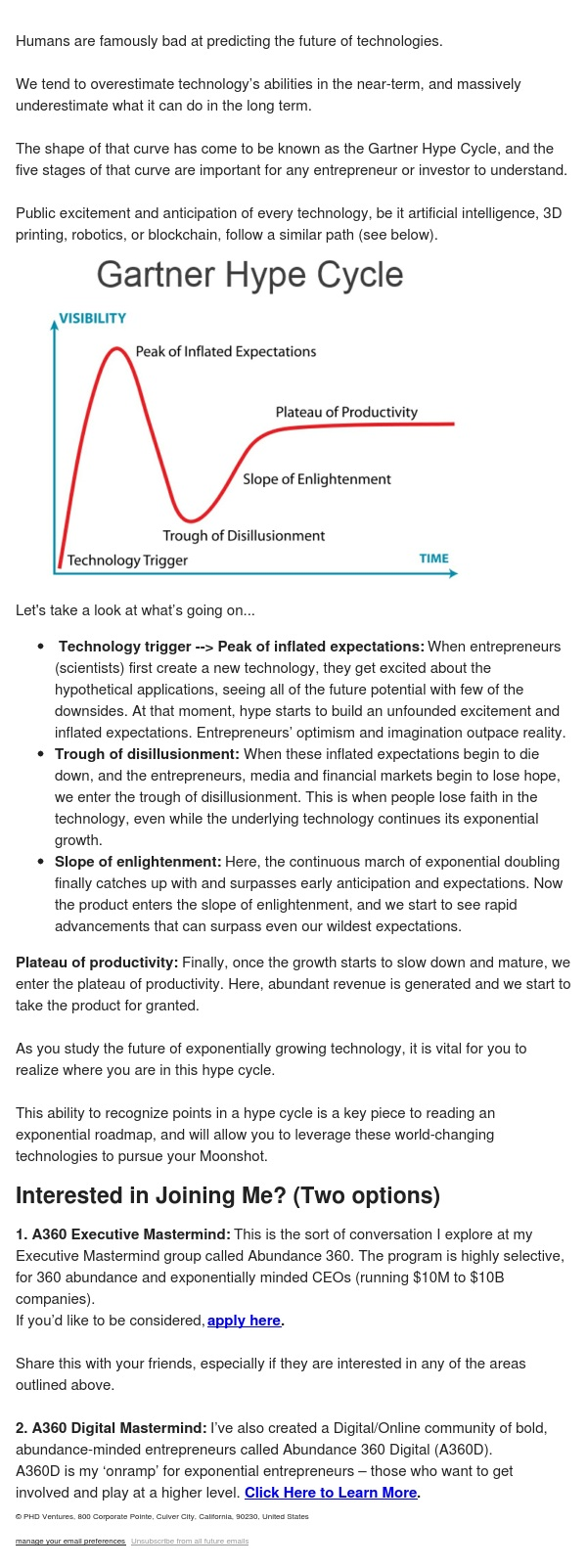 5 stages of the hype cycle