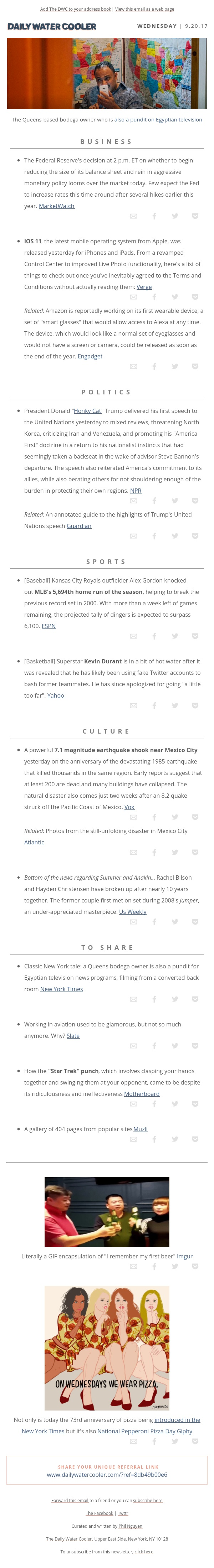 [@the_dwc] Eyes on Federal Reserve decision; Mexico rocked by 7.1 magnitude earthquake
