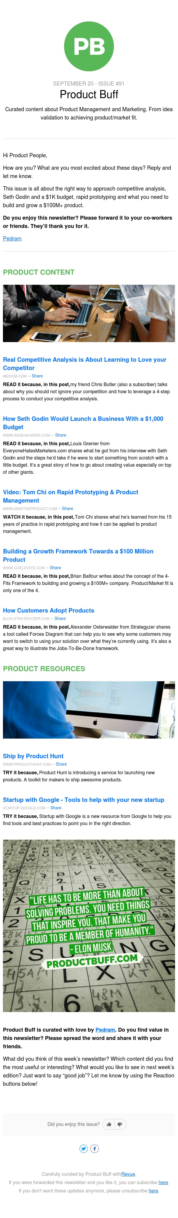 Competitive analysis done right, Rapid prototyping, A roadmap to a $100M+ product