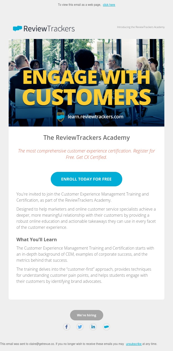 You're Invited: The ReviewTrackers Academy