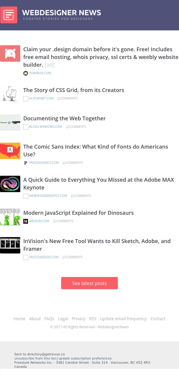 ✏ The Comic Sans Index, Everything You Missed at Adobe MAX, The Story of CSS Grid, and more…