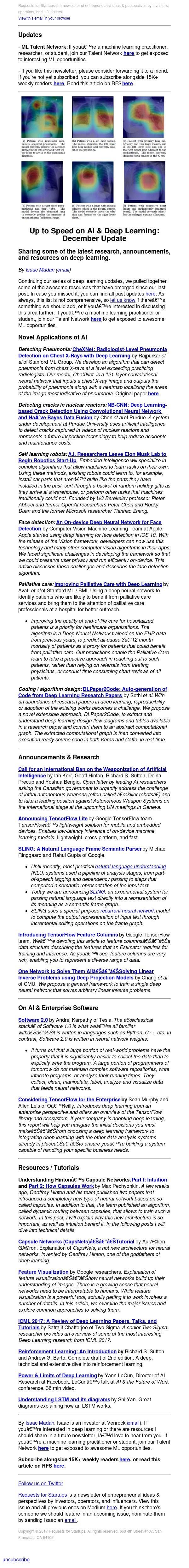 RFS #81: AI & Deep Learning December Update