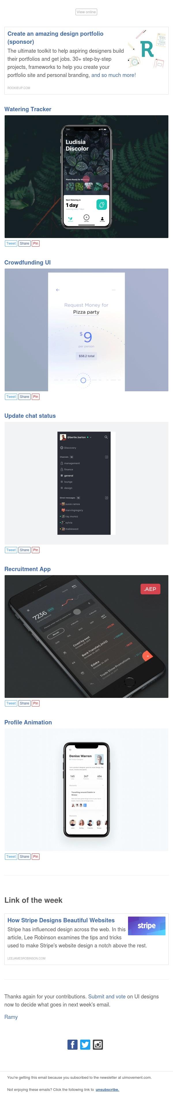 Top 5 UI designs this week
