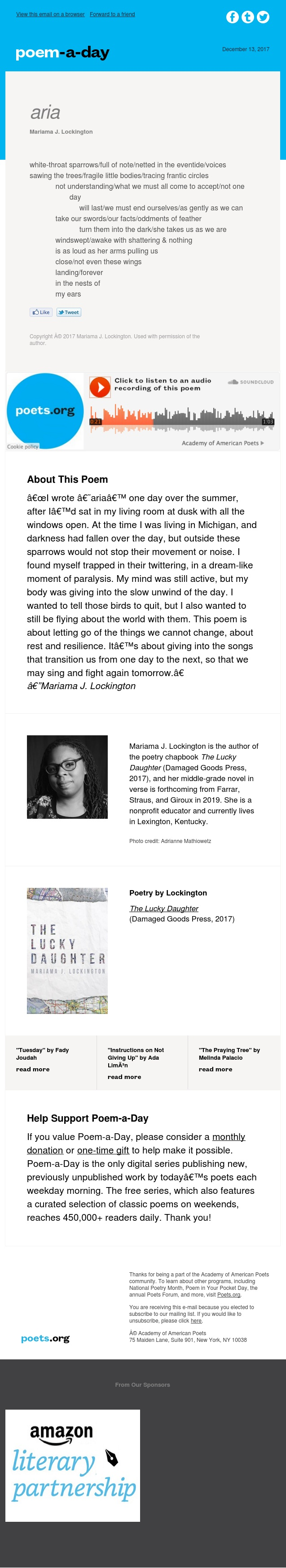 """aria"" by Mariama J. Lockington"