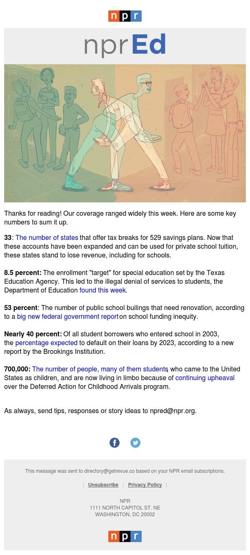 The Week In Education, In Five Numbers