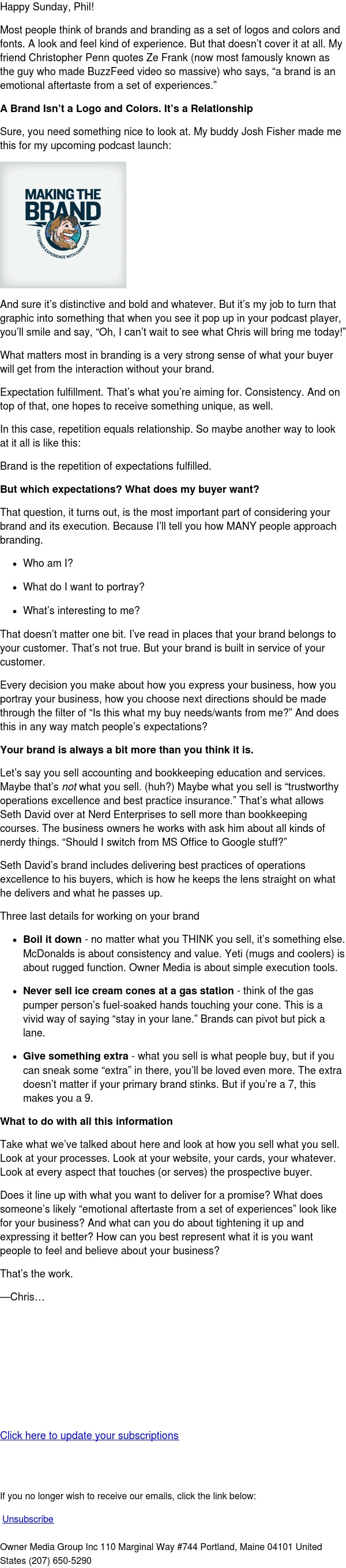 What Your Brand Isn't and What it Is