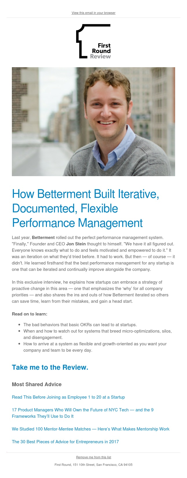 Betterment Tested 3 Performance Management Systems So You Don't Have To