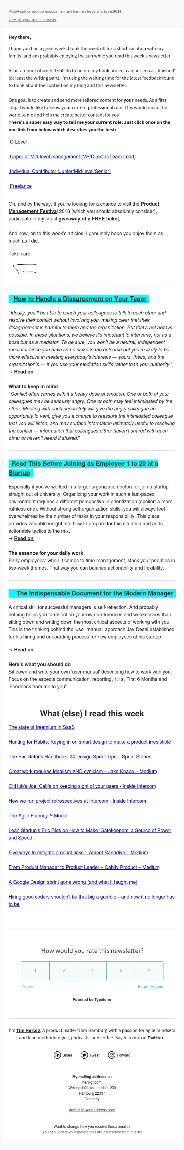 How to Handle a Disagreement on Your Team &The Indispensable Document for the ModernManager