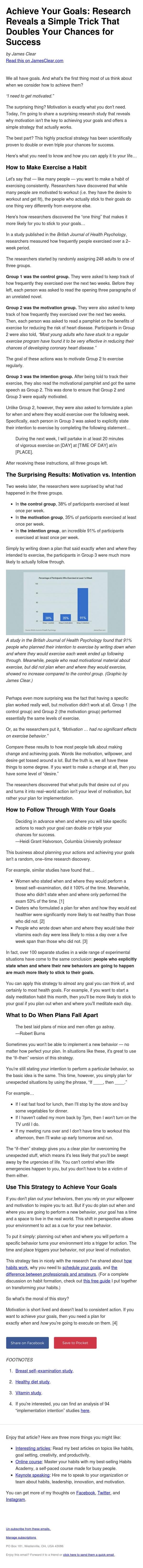 Achieve Your Goals: Research Reveals a Simple Trick That Doubles Your Chances for Success