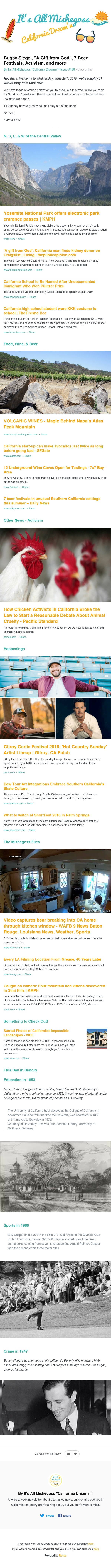 """Bugsy Siegel, """"A Gift from God"""", 7 Beer Festivals, Activism, and more"""