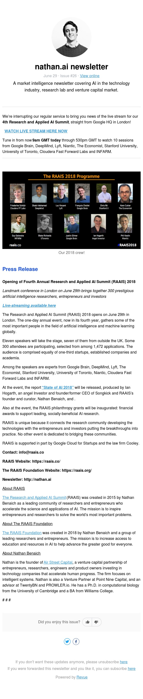 📺*Live stream* NOW: 4th Research and Applied AI Summit