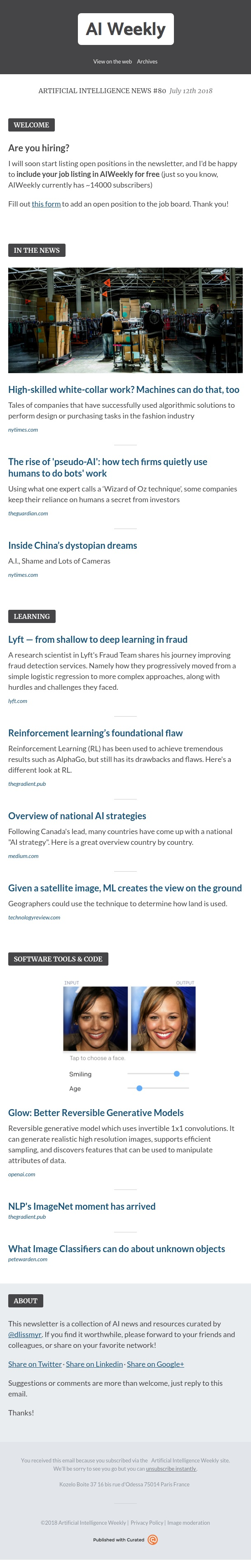 Artificial Intelligence Weekly - Artificial Intelligence News #80