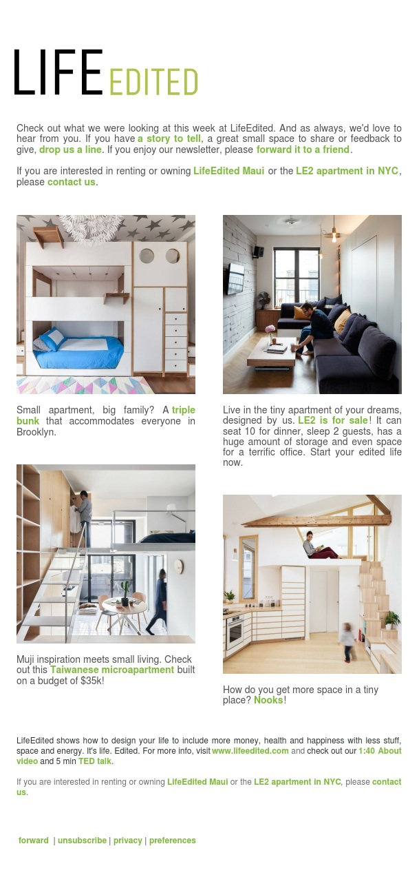 LE2 for Sale, Taipei Microapartments, Triple Bunk beds, and more...