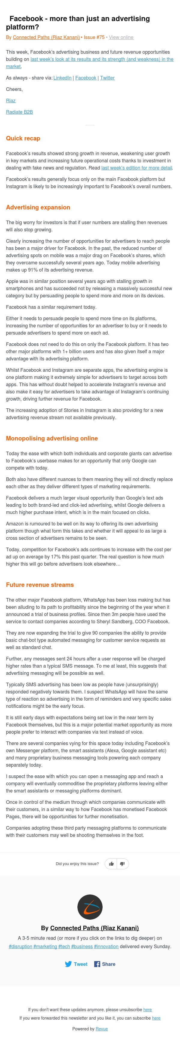 📺Facebook - more than just an advertising platform?