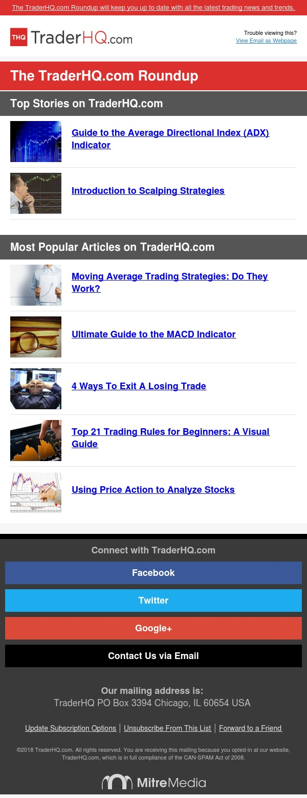 TraderHQ Newsletter: This Is the Best Way to Keep up With the Markets