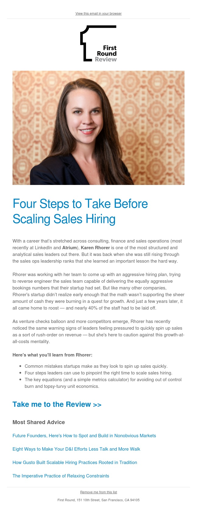 Four steps to take before scaling sales