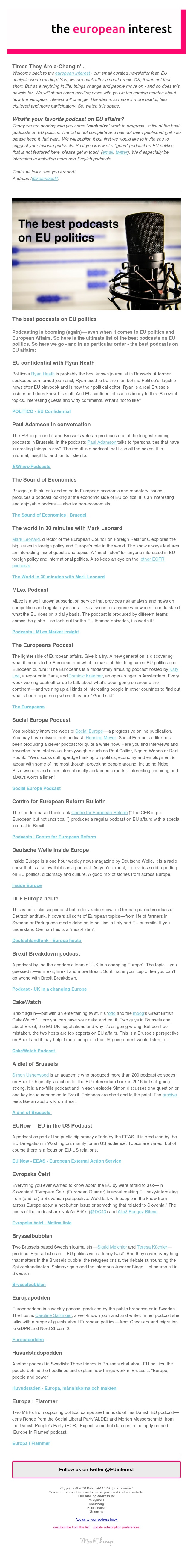 the european interest: the best podcasts on EU politics