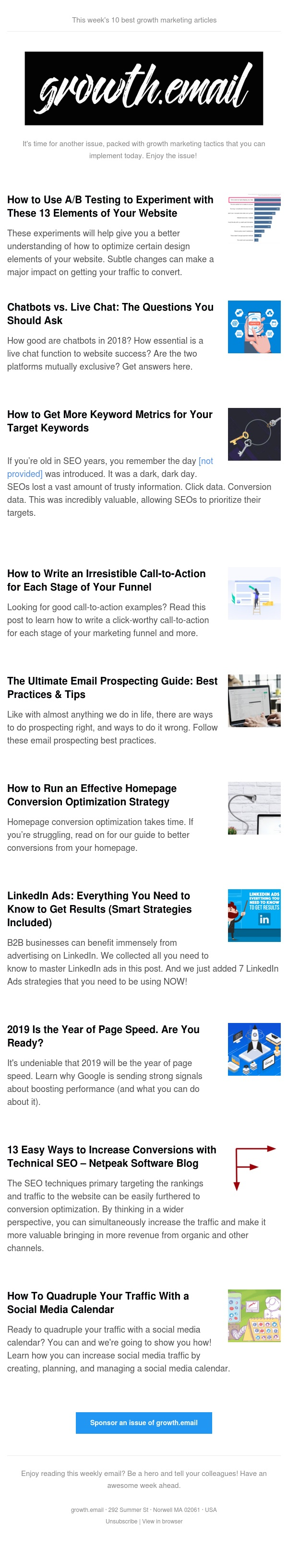 growth.email #83 Smart Linkedin Ads Strategies | Homepage Optimization Conversion Strategy | Increase Conversions with Technical SEO | The Ultimate Email Prospecting Guide