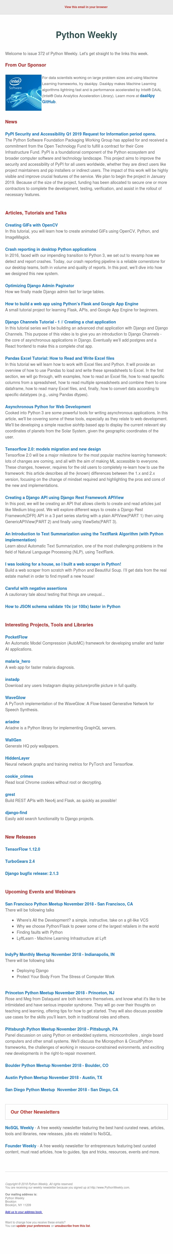 Python Weekly - Issue 372