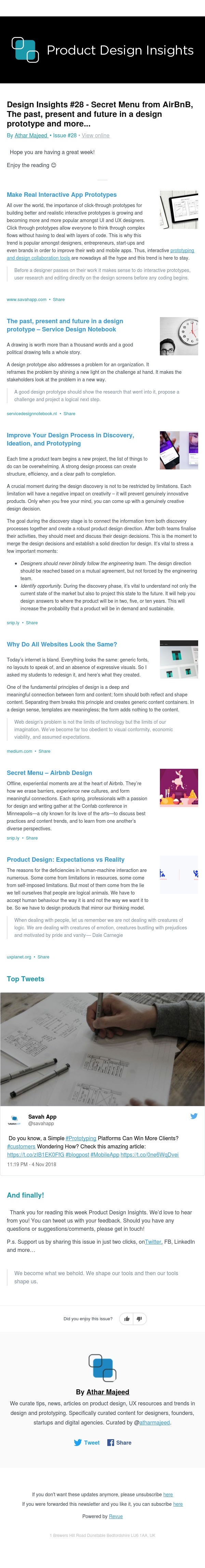 Design Insights #28 - Secret Menu from AirBnB, The past, present and future in a design prototype and more...