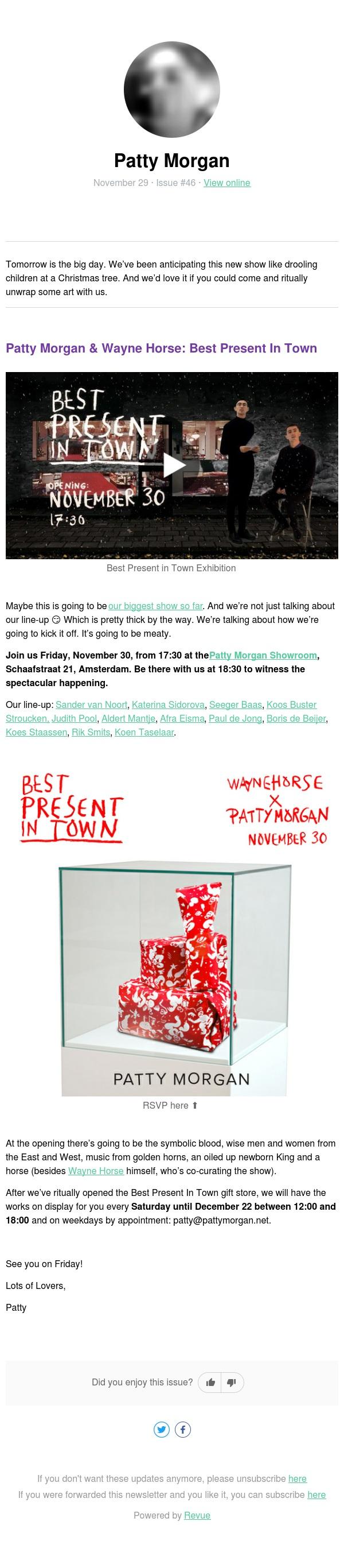 Official invite, come unwrap it