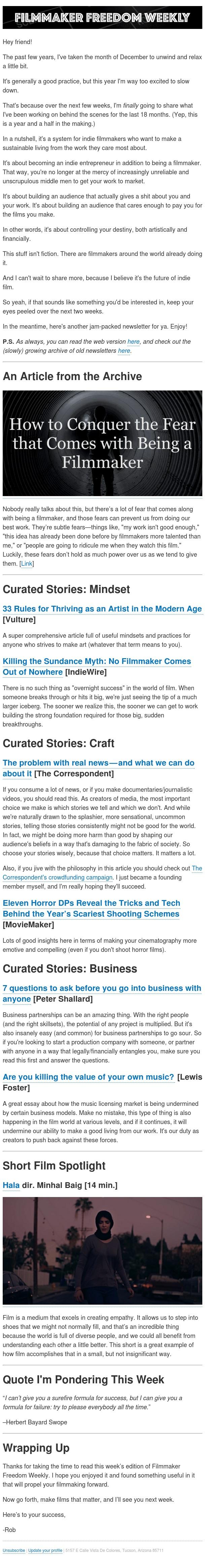 [Newsletter] Killing the Sundance Myth
