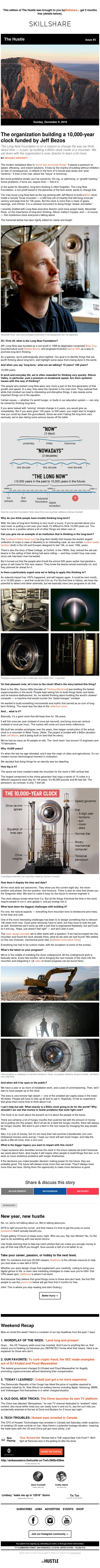 Are you thinking 10,000 years ahead?