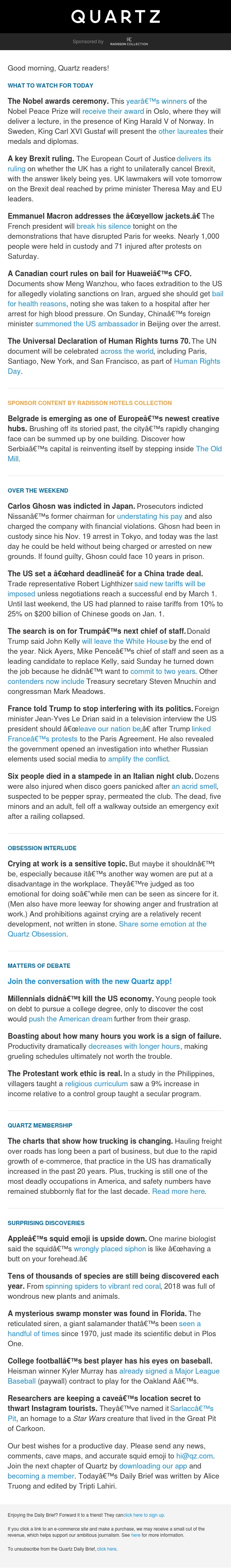 Brexit ruling, France's message to Trump, swamp monster