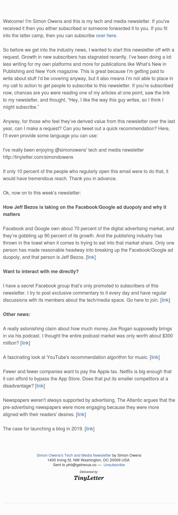 How Jeff Bezos is taking on the Facebook/Google ad duopoly