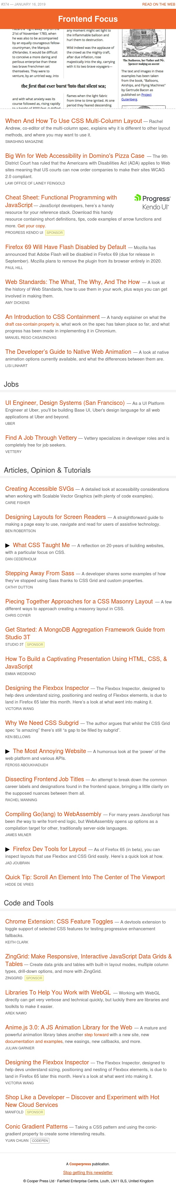 When and how to use multi-column layout