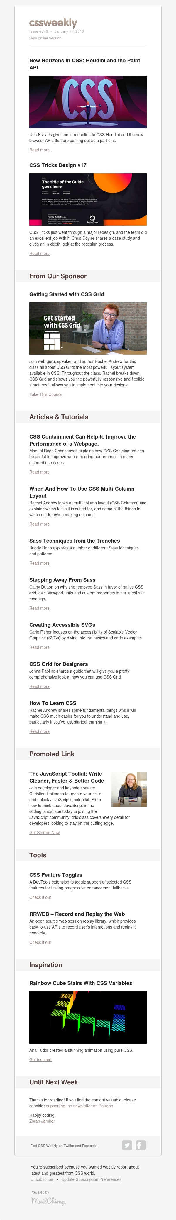 Issue #346: CSS Houdini, CSS Tricks, CSS Containment