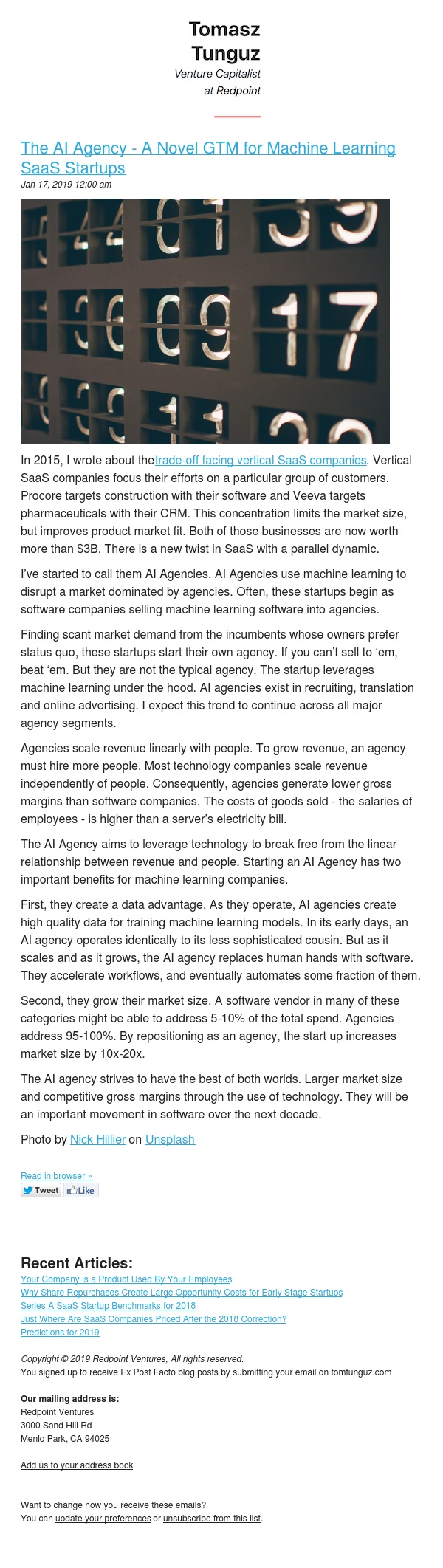 The AI Agency - A Novel GTM for Machine Learning SaaS Startups