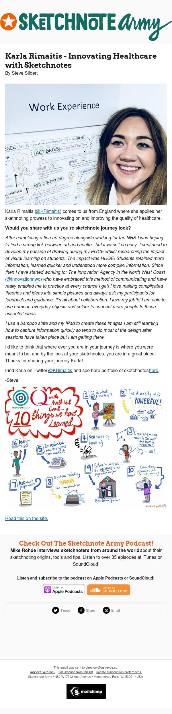 Sketchnote Army Newsletter