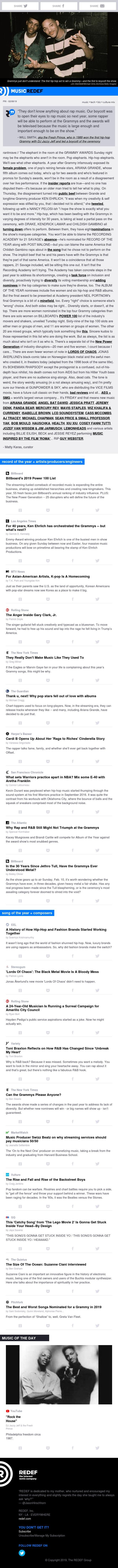 jason hirschhorn's @MusicREDEF: 02/08/2019 - Yo Grammys: Thank U Next, Billboard Power 100, K-Pop Homecoming, Gary Clark Jr., 'Lords of Chaos'...