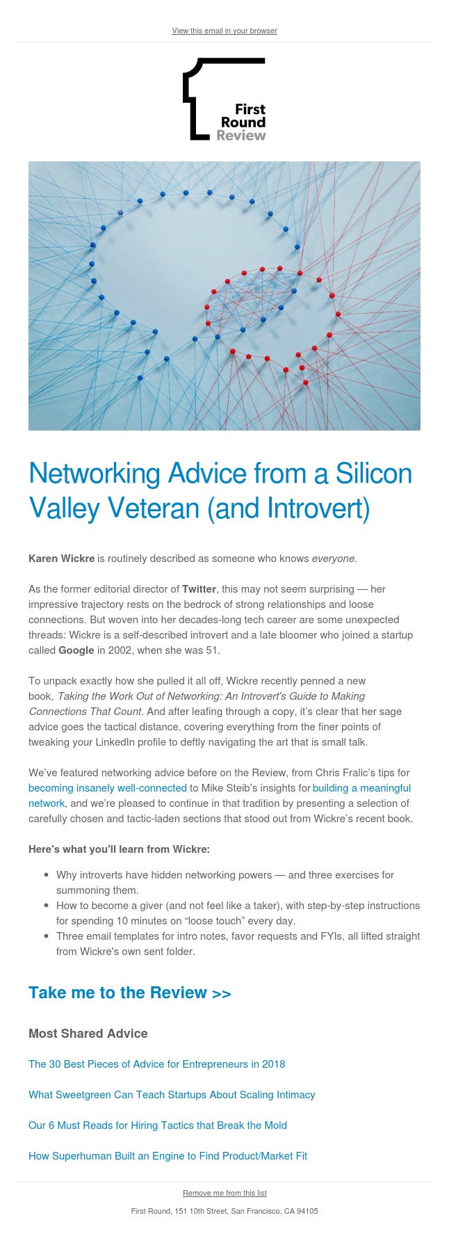 Networking advice from an introverted Silicon Valley veteran