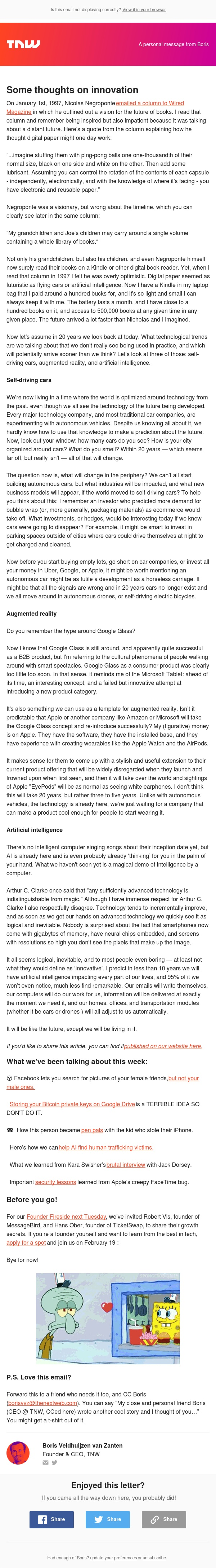 Some thoughts on innovation